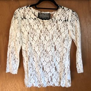 Reformation white lace top size S small